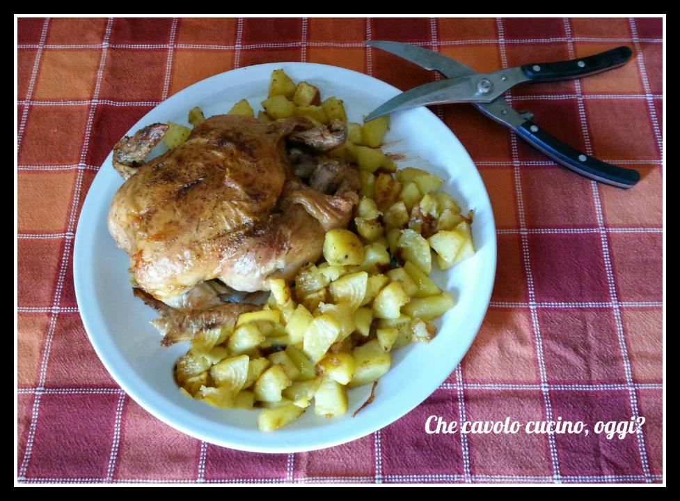 Pollo arrosto con patate cottura al forno tradizionale o - Forno tradizionale microonde ...