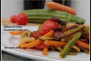 Julienne di zucchine e carote