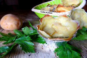 Cestini di patate con ripieno filante