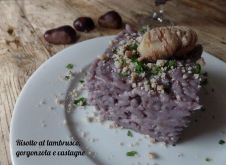 Risotto al lambrusco, gorgonzola e castagne