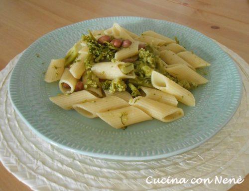 Pennoni con broccoli e borlotti