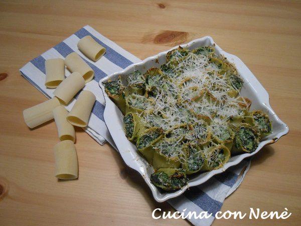 Paccheri ripieni al forno (ricetta light)