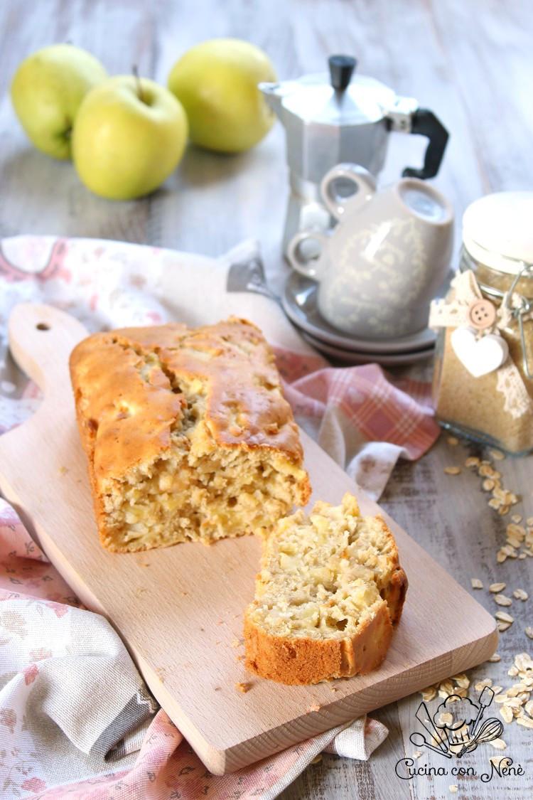 Plumcake rustico con mele e fiocchi d'avena