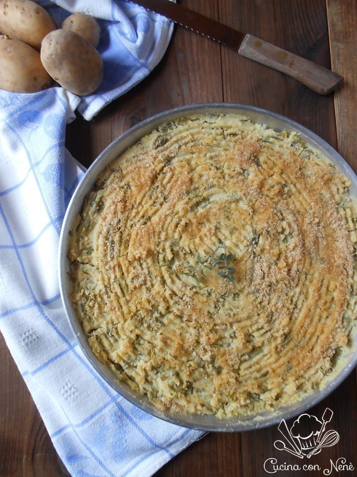 polpettone genovese di patate e fagiolini
