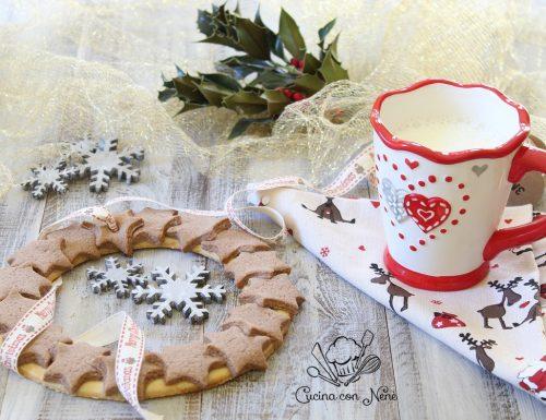 Ghirlanda di biscotti alla cannella, decorazione natalizia