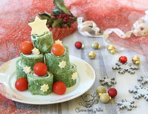 Albero di frittata arrotolata, antipasti sfiziosi per Natale