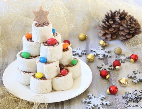 Albero di Natale dolce con girelle senza cottura