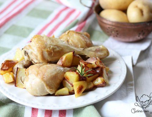 Fusi di pollo al forno con patate