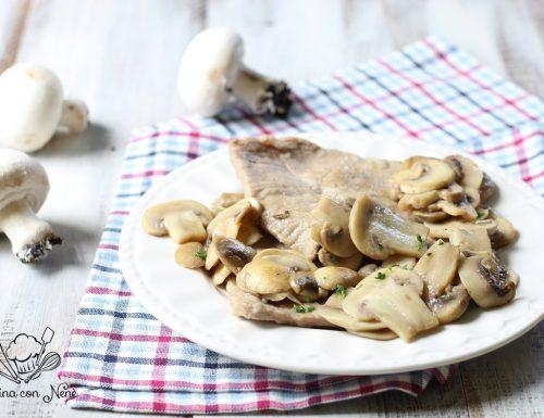Scaloppine con i funghi