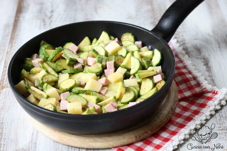 Zucchine e prosciutto