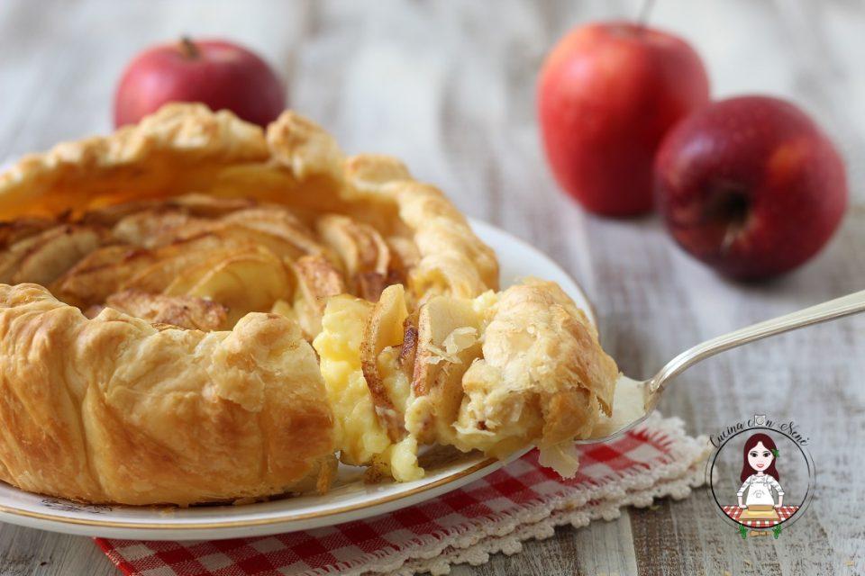 torta di mele sfoglia e crema