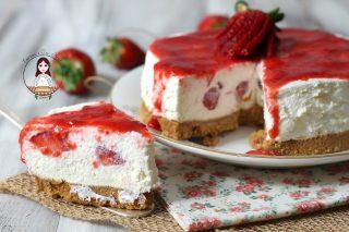 Cheesecake mascarpone panna e fragole
