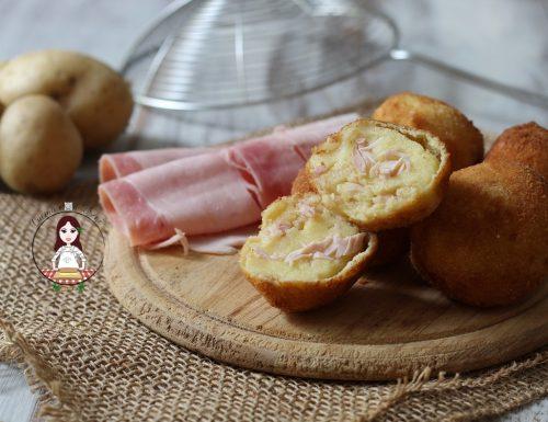 Polpette di patate e prosciutto