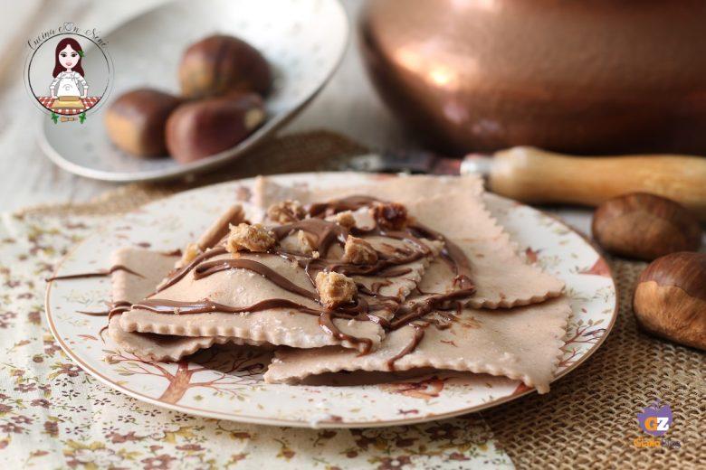 Ravioli di castagne dolci