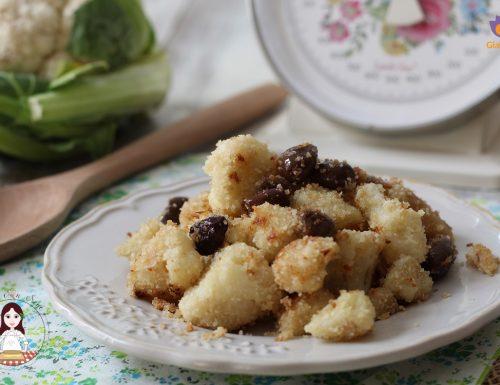 Cavolfiore in padella con olive e acciughe