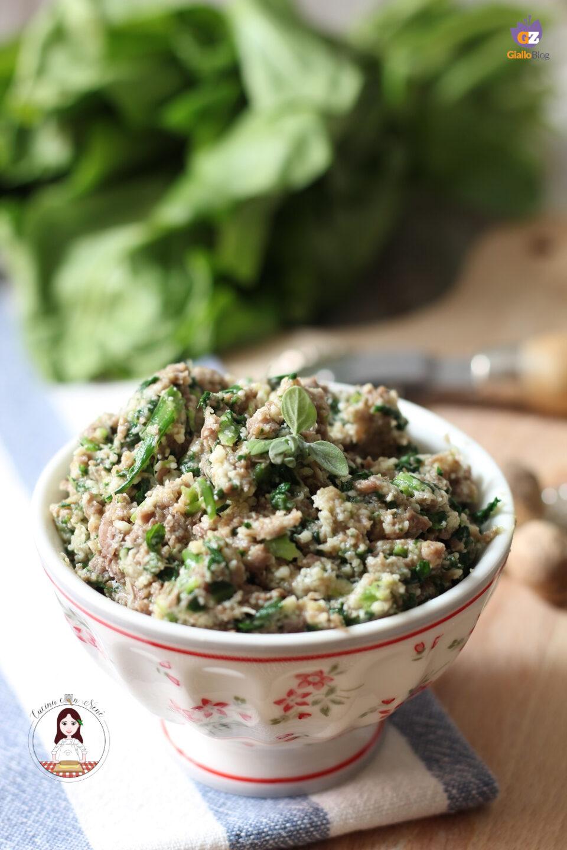 Ripieno per ravioli di carne e verdura