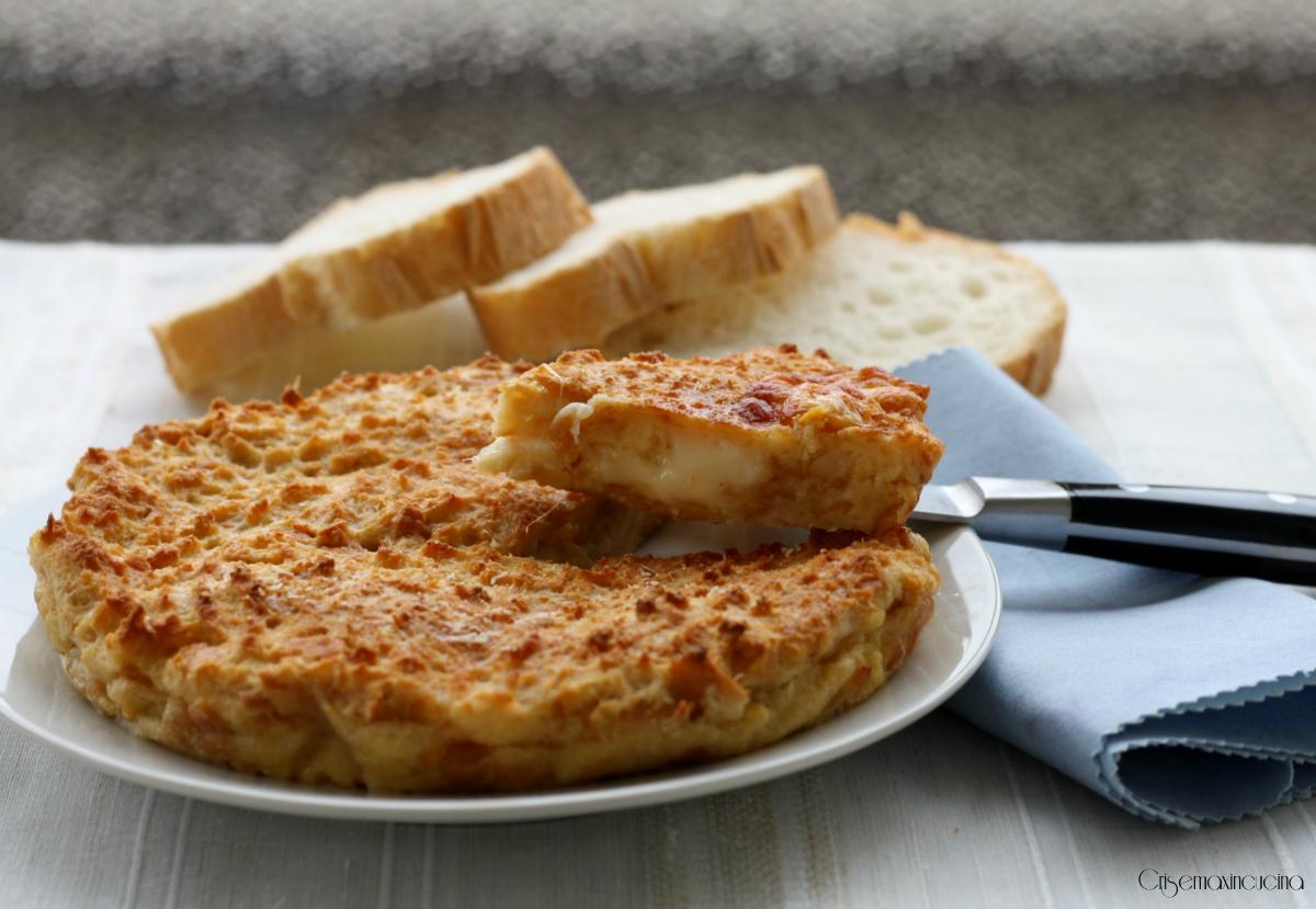 Frittata pane raffermo verdure pasta carne di tutto un poco