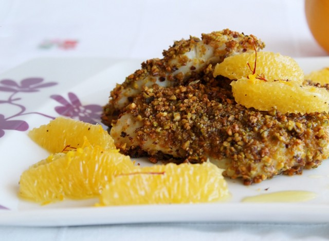 Filetto Nasello crosta di Pistacchi ricetta mediorientale