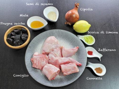 Tajine di coniglio alle prugne miele e spezie delicato piatto unico