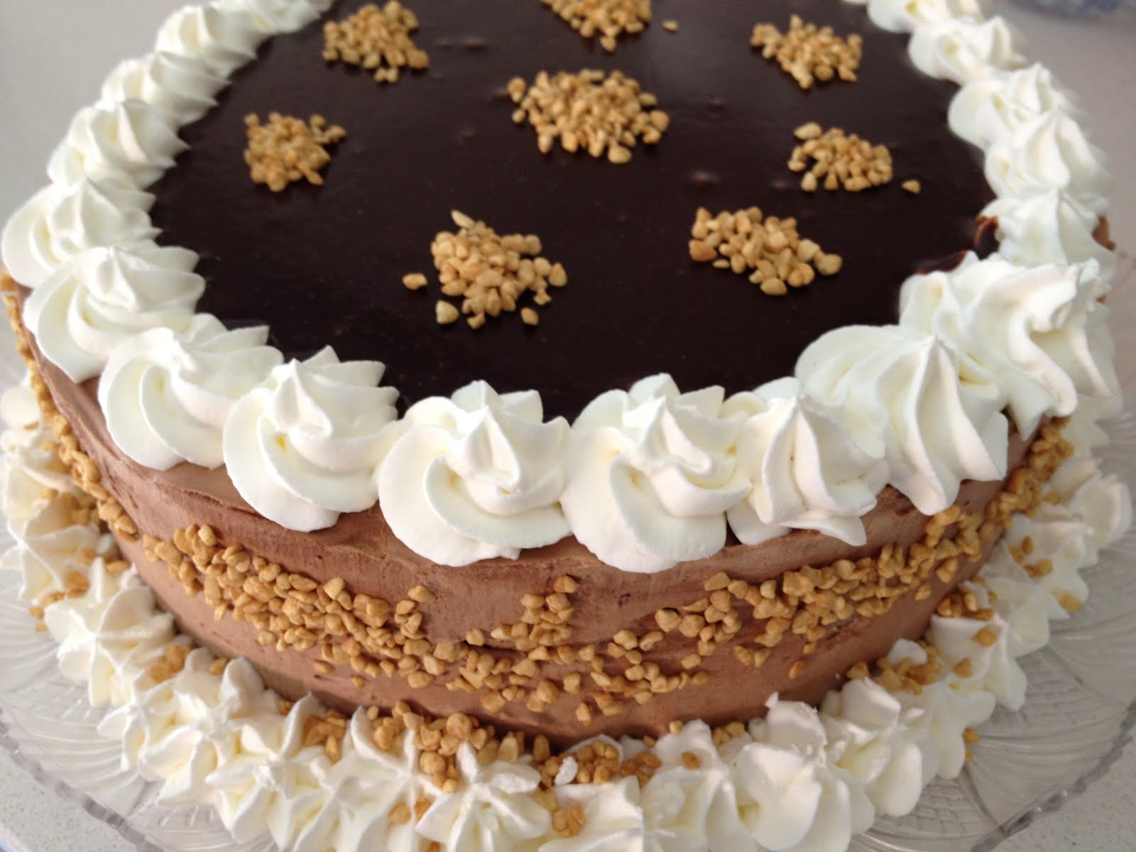 Bavarese cioccolato fondente noci nocciole panna montata