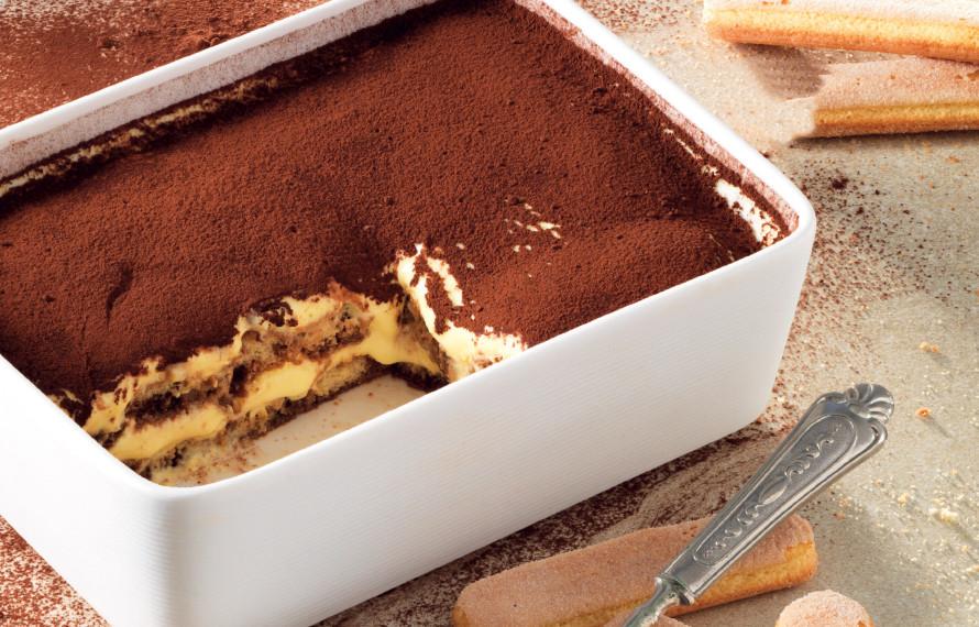 Tiramisù variegato Nutella frutta secca aromatizzato Amaretto
