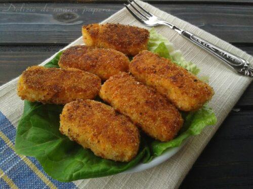 Crocchette maxi con patate zucchine carote cotte al forno