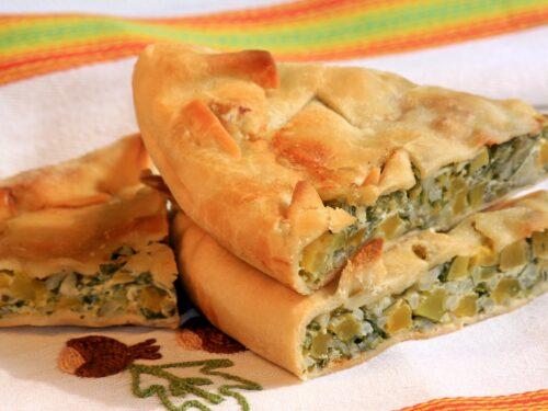 Torta salata verde tipico piatto povero del ponente ligure