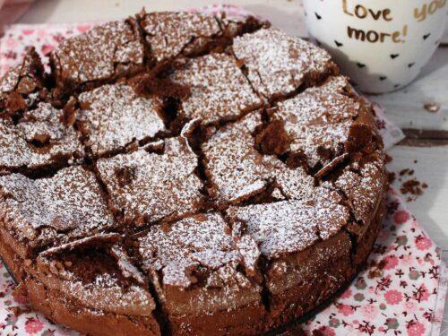 Torta al cioccolato fondente aromatizzata al Grand Manier