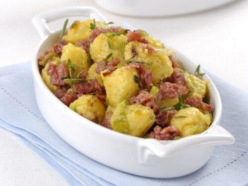 Piatto Unico Bocconcini golosi polenta con verza aromatizzati