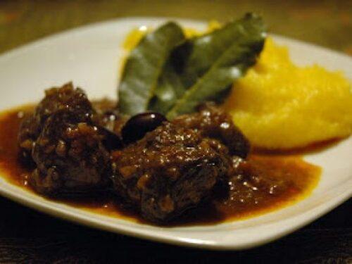 Cucina tradizionale veneta Secondi piatti Lepre in salmì con polenta