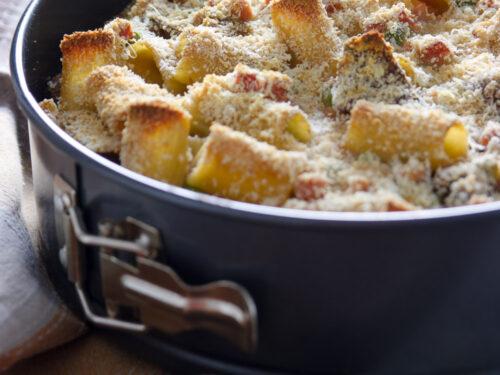 Primi piatti autunnali Pasta pasticciata al forno a modo mio