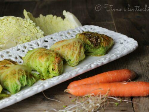 Cucina Vegana Bocconcini golosi con lenticchie verdi e verza