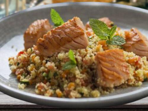 Secondo piatto Salmone e cous cous