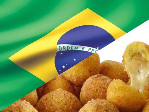 Antipasto brasiliano con le polpette di manioca