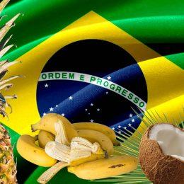 Una montagna alla frutta brasiliana