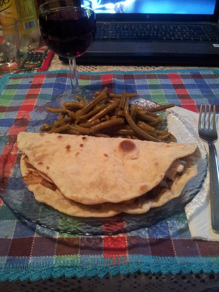 Piadina light senza strutto...
