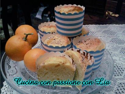 Muffin all'arancia senza burro,uova,latte...