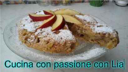 Torta veloce rovesciata mele,banane e cannella