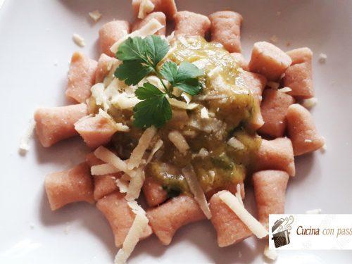 Gnocchi con farina di lenticchie senza patate