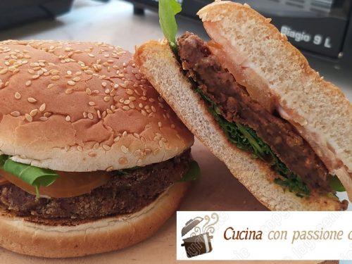 Hamburger di fagioli azuki bio