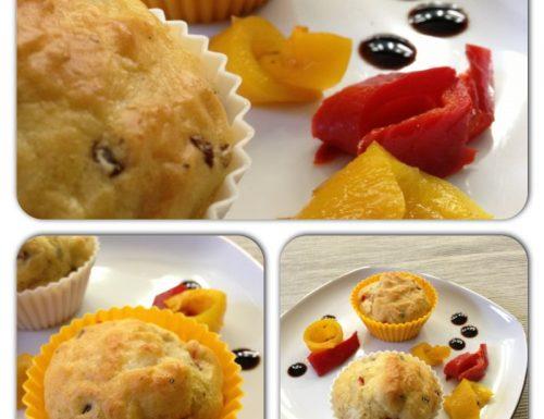 Muffins peperoni, olive e scamorza