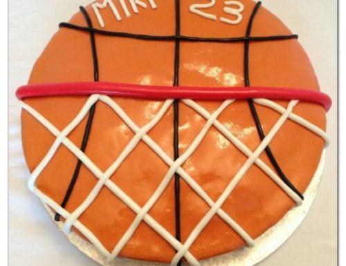 Torta pallone da basket con canestro – cake design