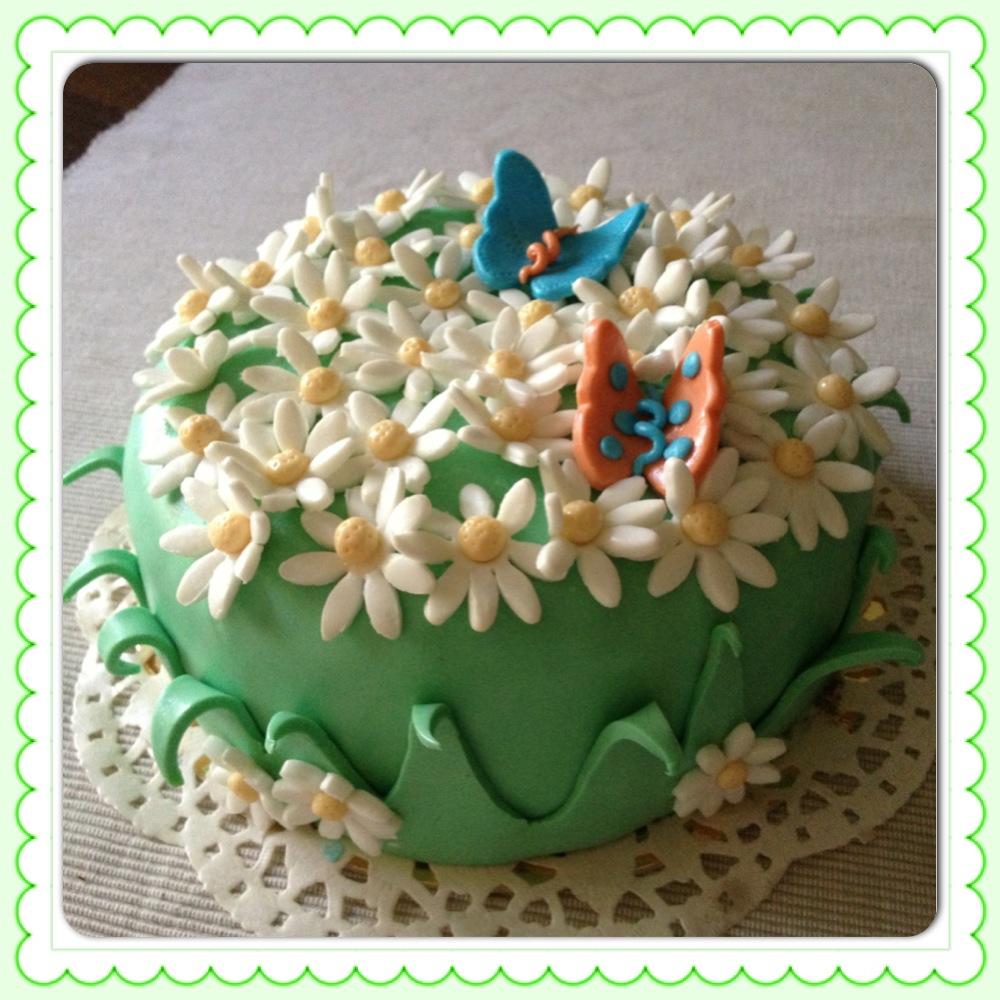 Cake Design Prato : Cake design: un prato fiorito /CUCINA CON SARA