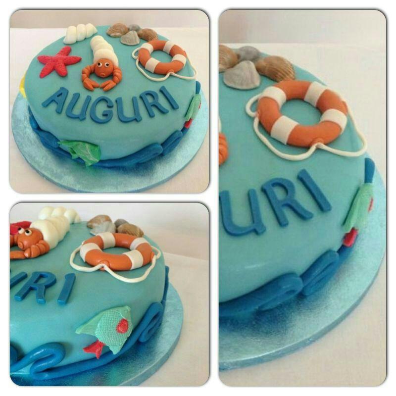 Cake Design Torta A Tema Marino Cucina Con Sara