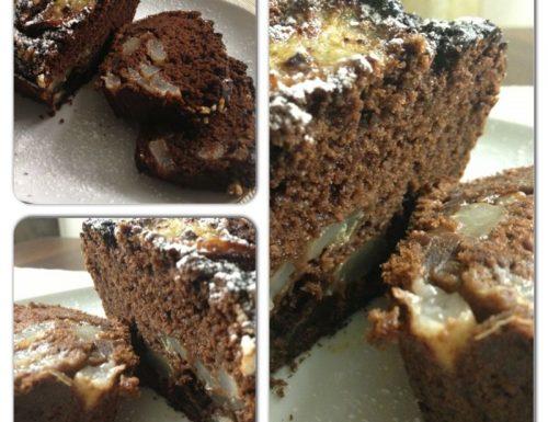 Plumcake ricotta, cioccolato e pere