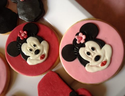 Biscotti decorati con Minnie