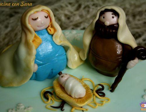 Torta presepe in pasta di zucchero, ricetta natalizia