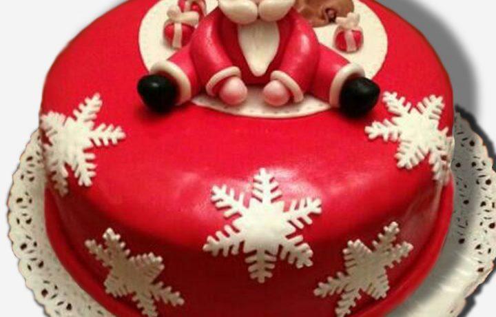 cake design torta babbo natale