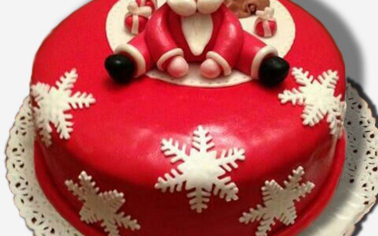 Cake design: torta babbo natale