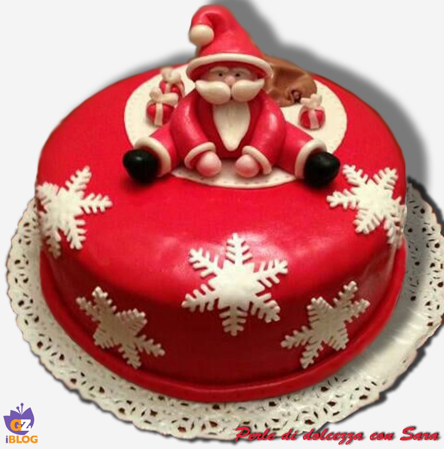 Cake design: torta babbo natale /CUCINA CON SARA
